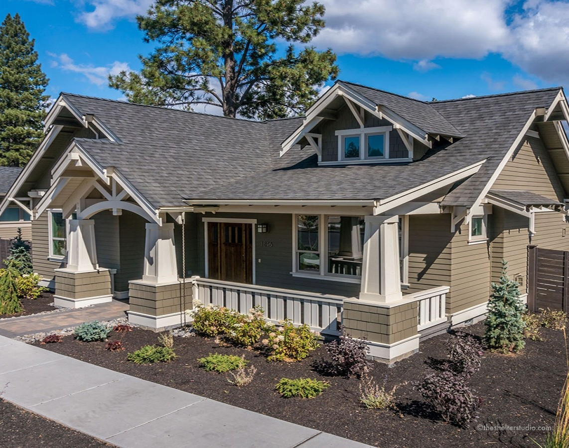 Custom home designs bend oregon the shelter studio for Custom craftsman home builders