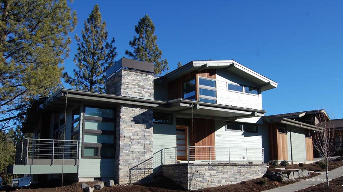 Gallery of custom home designs plans the shelter studio for Home designers bend oregon